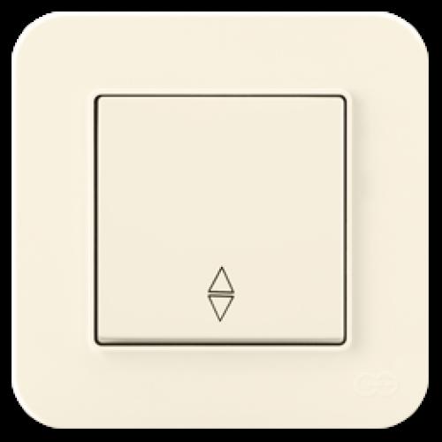 Выключатель 1-клавишный проходной (без рамки) крем 01401200-150107      ()