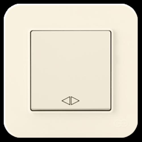 Выключатель 1-клавишный перекрестный (без рамки) крем 01401200-15013      ()
