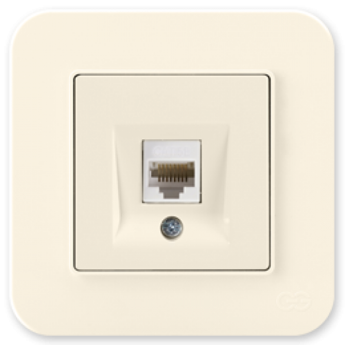 Розетка компьютерная (без рамки) крем 01401200-157130      ()