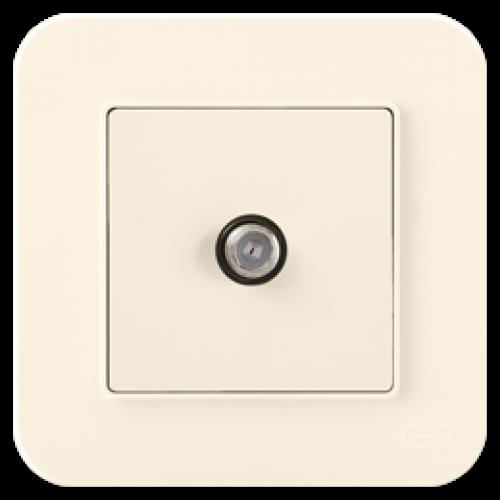 Розетка ТВ (без рамки) крем 01401200-159122      ()