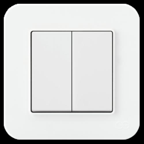 Выключатель 2-кл (без рамки) белый 01409300-150103      ()