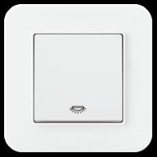 Выключатель 1-кл проходной (без рамки) белый 01409300-150107