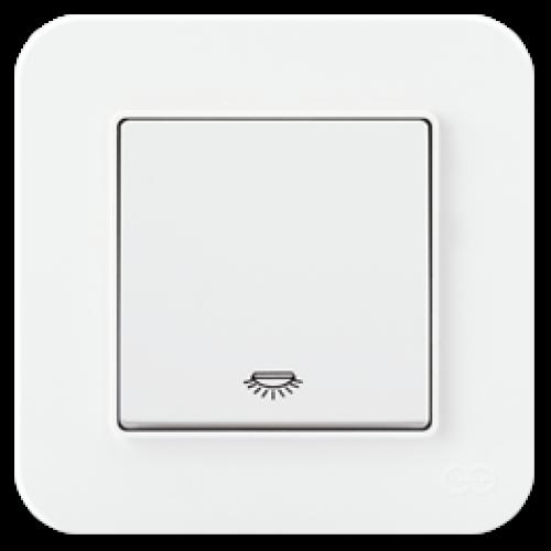 Выключатель 1-кл проходной (без рамки) белый 01409300-150107      ()