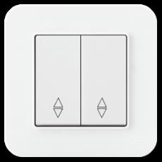 Выключатель 2-кл проходной (без рамки) белый 01409300-150109