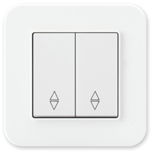 Выключатель 2-кл проходной (без рамки) белый 01409300-150109      ()