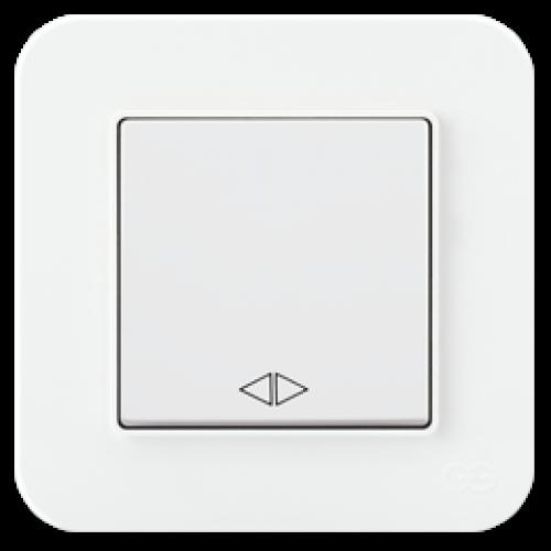 Выключатель 1-кл перекрестный (без рамки) белый 01409300-150135      ()