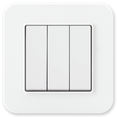 Выключатель 3-кл (без рамки) белый 01409300-150160