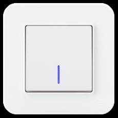 Выключатель 1-кл с индикацией (без рамки) белый 01409300-150102