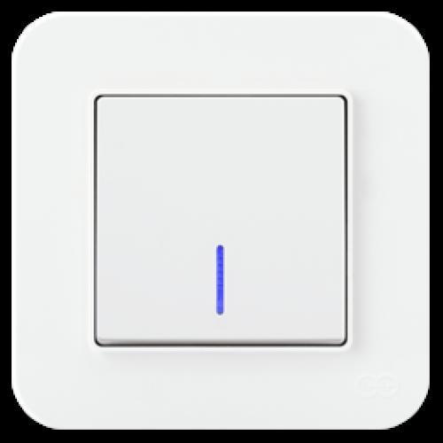 Выключатель 1-кл с индикацией (без рамки) белый 01409300-150102      ()
