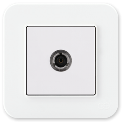 Розетка ТВ (без рамки) белая 01409300-159122      ()