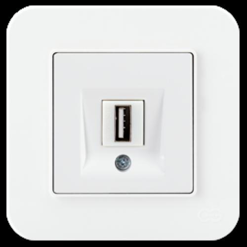 Розетка USB для передачи данных белый 01409300-157351      ()