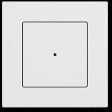 Выключатель 1-клавишный белый