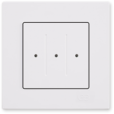 Выключатель 3-клавишный белый