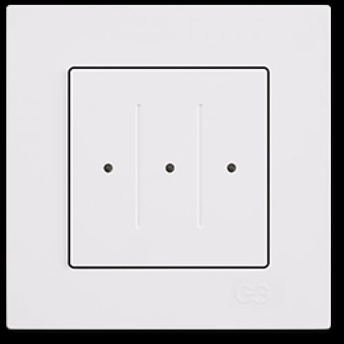 Выключатель 3-клавишный белый Gunsan Eqona (сенсоры) (01709300-150160)