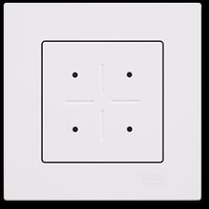 Выключатель на 4 лампы белый