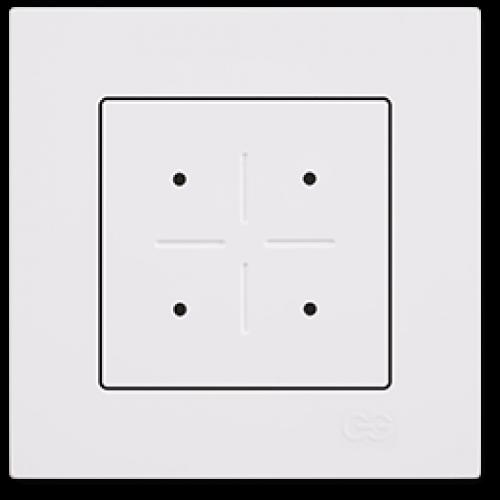 Выключатель 4-кл сенсорный (без рамки) белый Gunsan Eqona (сенсоры) (01709300-150394)