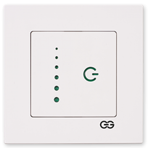 Светорегулятор слайдер белый Gunsan Eqona (сенсоры) (01709300-160396)