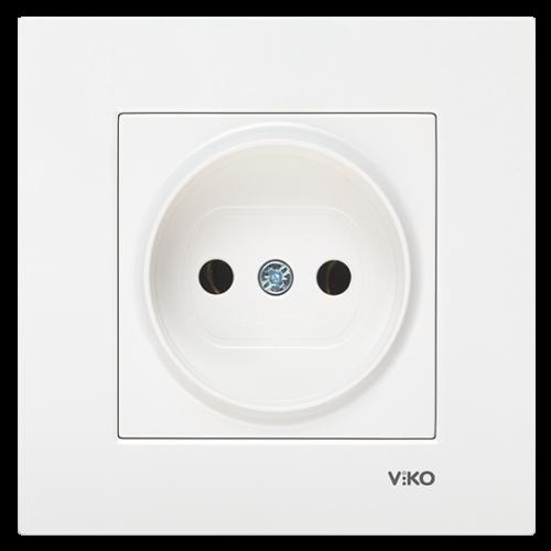 Розетка (без рамки) белая Viko Karre (90963607)