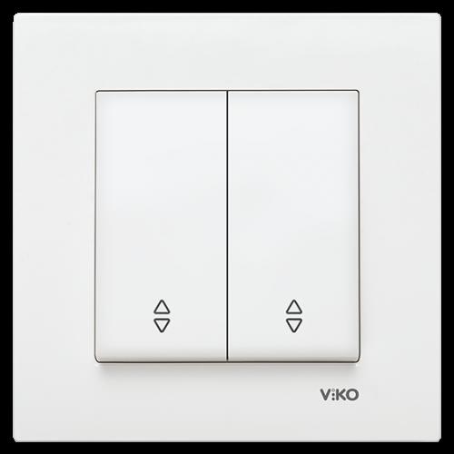 Выключатель 2кл проходной (без рамки) белый Viko Karre (90963617)