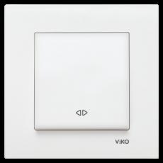 Выключатель 1-кл перекрестный (без рамки) белый