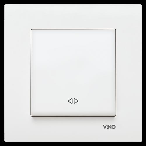 Выключатель 1-кл перекрестный (без рамки) белый  Viko Karre (90963631)
