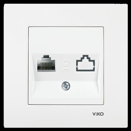 Розетка компьютерная (без рамки) белая Viko Karre (90967032)