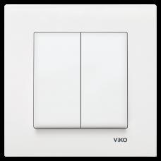 Выключатель 2-кл (без рамки) белый