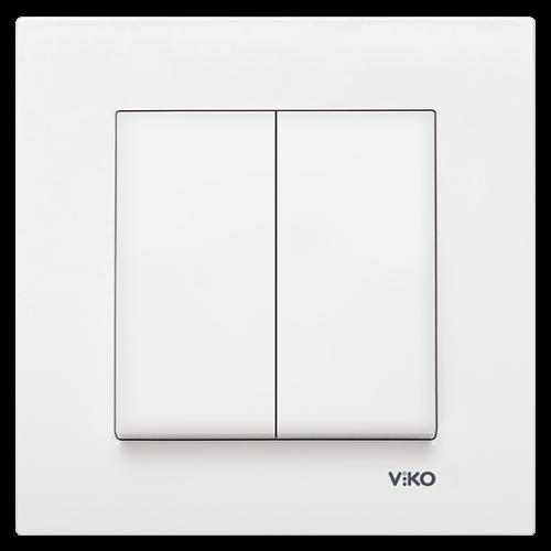 Выключатель 2-кл (без рамки) белый Viko Karre (90963602)