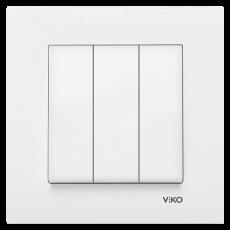 Выключатель 3-кл (без рамки) белый