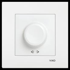 Выключатель-диммер (без рамки) белый