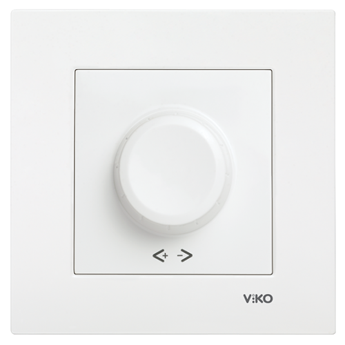 Выключатель-диммер (без рамки) белый Viko Karre (90967020)