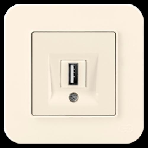 Розетка USB крем 01401200-157351      ()