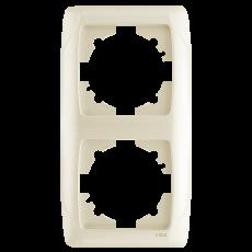 Рамка*2 вертикальная кремовая