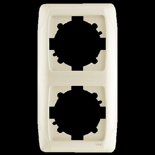 Рамка*2 вертикальная кремовая  Viko Carmen (90572002)