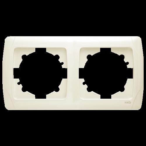 Рамка*2 горизонтальная кремовая  Viko Carmen (90572102)