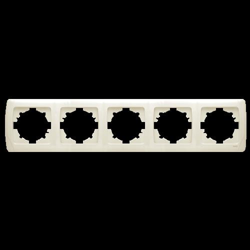 Рамка*5 горизонтальная кремовая  Viko Carmen (90572105)