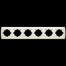 Рамка*6 горизонтальная кремовая