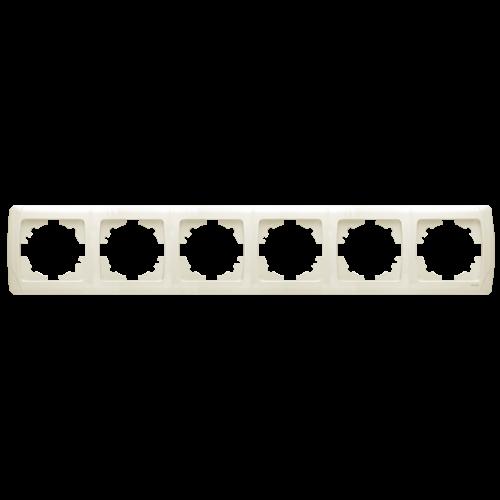 Рамка*6 горизонтальная кремовая  Viko Carmen (90572106)