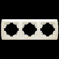Рамка*3 горизонтальная кремовая