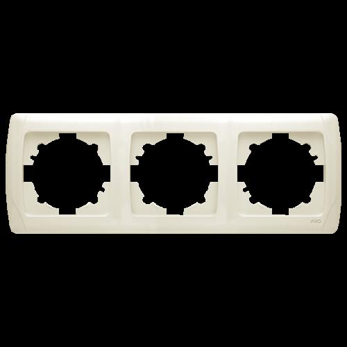 Рамка*3 горизонтальная кремовая  Viko Carmen (90572103)