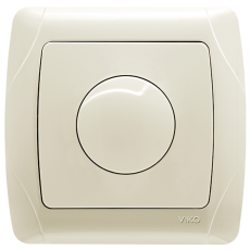 Выключатель-диммер кремовый