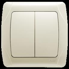Выключатель 2-кл кремовый
