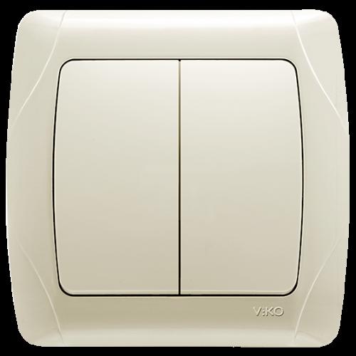 Выключатель 2-кл кремовый  Viko Carmen (90562002)
