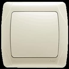 Выключатель 1-кл кремовый