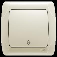 Выключатель 1-кл проходной кремовый