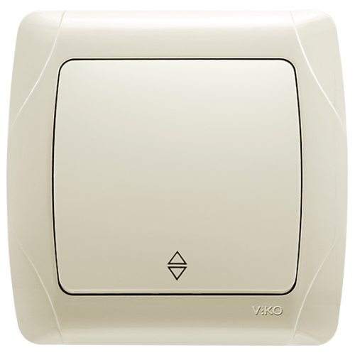 Выключатель 1-кл проходной кремовый Viko Carmen (90562004)