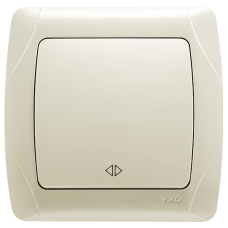 Выключатель 1-кл перекрёстный кремовый