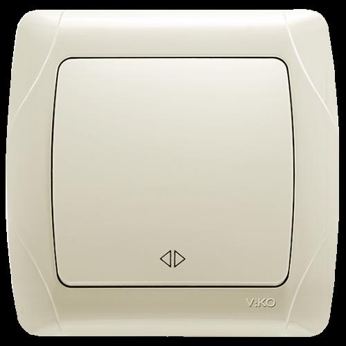 Выключатель 1-кл перекрёстный кремовый Viko Carmen (90562031)