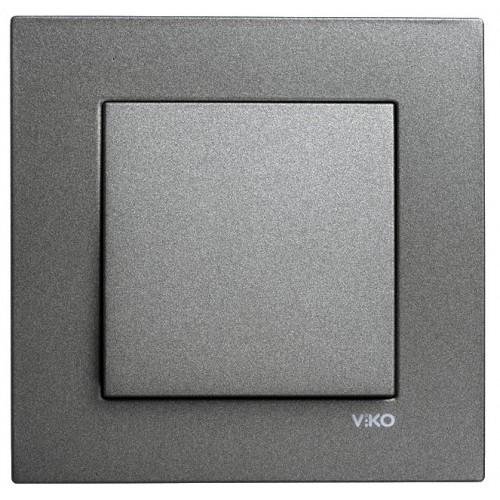 Выключатель 1-кл (без рамки) дымчатый  Viko Novella (92105401)