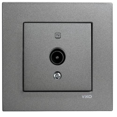 Розетка ТВ оконечная (без рамки) дымчатый  Viko Novella (92105449)